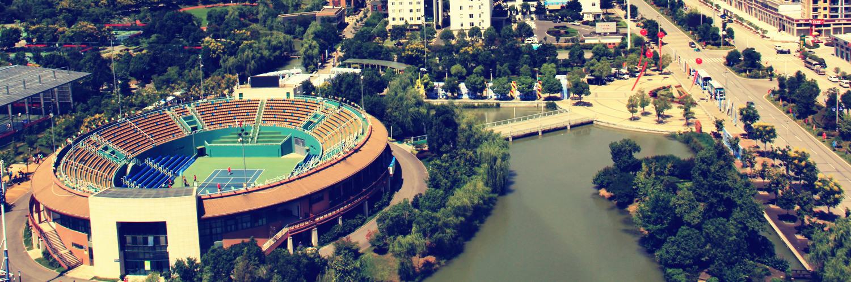 湖北京山—200余片网球场